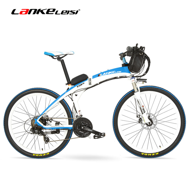 Lankeleisi GP Electric Bicycle 26 inches Folding font b Bike b font 48V 240W Motor Front