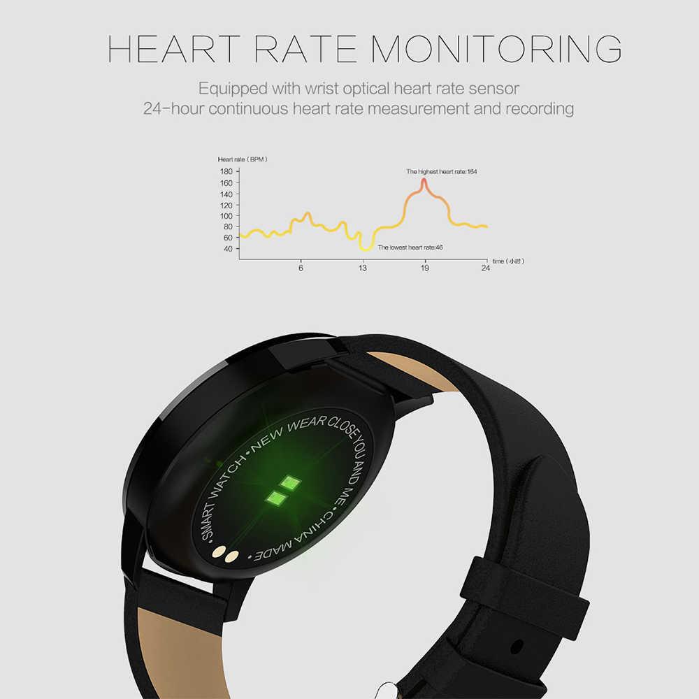 Бизнес Смарт-часы IP67 шагомер сердечного ритма в режиме реального Сенсорный экран LEMFO Q8 модные умные часы фитнес-трекер для Для мужчин Для женщин