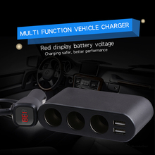 A drag three car cigarette lighter car charger dual USB car charger plug Multifunction 120W Car Electronics Accessories
