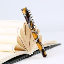 Novo Criativo Homem DA Lua N2 Mini Resina Fountain Pen Bolso Curto Tinta Acrílica Caneta extra Fino/fine 0.38/0.5mm de Moda Presente para o Escritório
