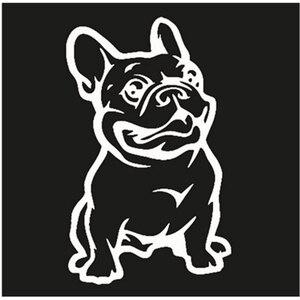 Image 2 - SLIVERYSEA Nieuwe Sterke Lijm 3d Stickers Franse Bulldog Hond Auto Sticker Vinyl Auto Decal Custom Raam Deur Muur Sticker