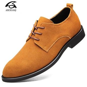 Brand Plus Size 48 Men Casual Leather Shoes Oxfords Suede Leather Men's Flats Spring Autumn Fashion Classic Shoes