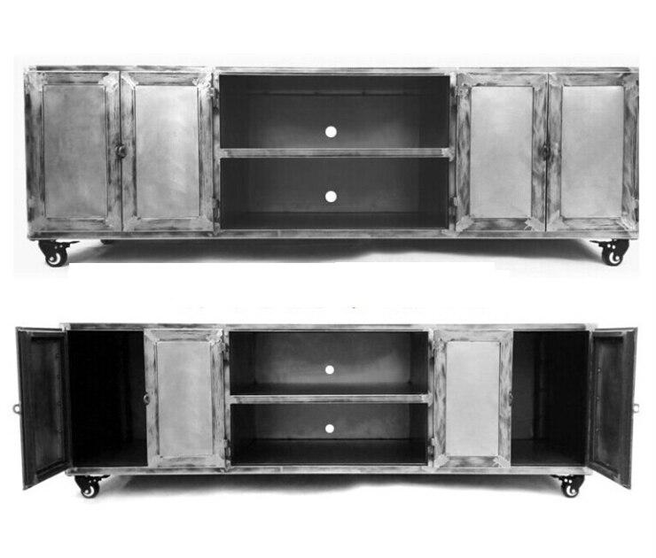 industrielle retro faire le vieux fer forge loft metal armoires meuble tv boite de rangement boite en metal fer etain tronc qualites