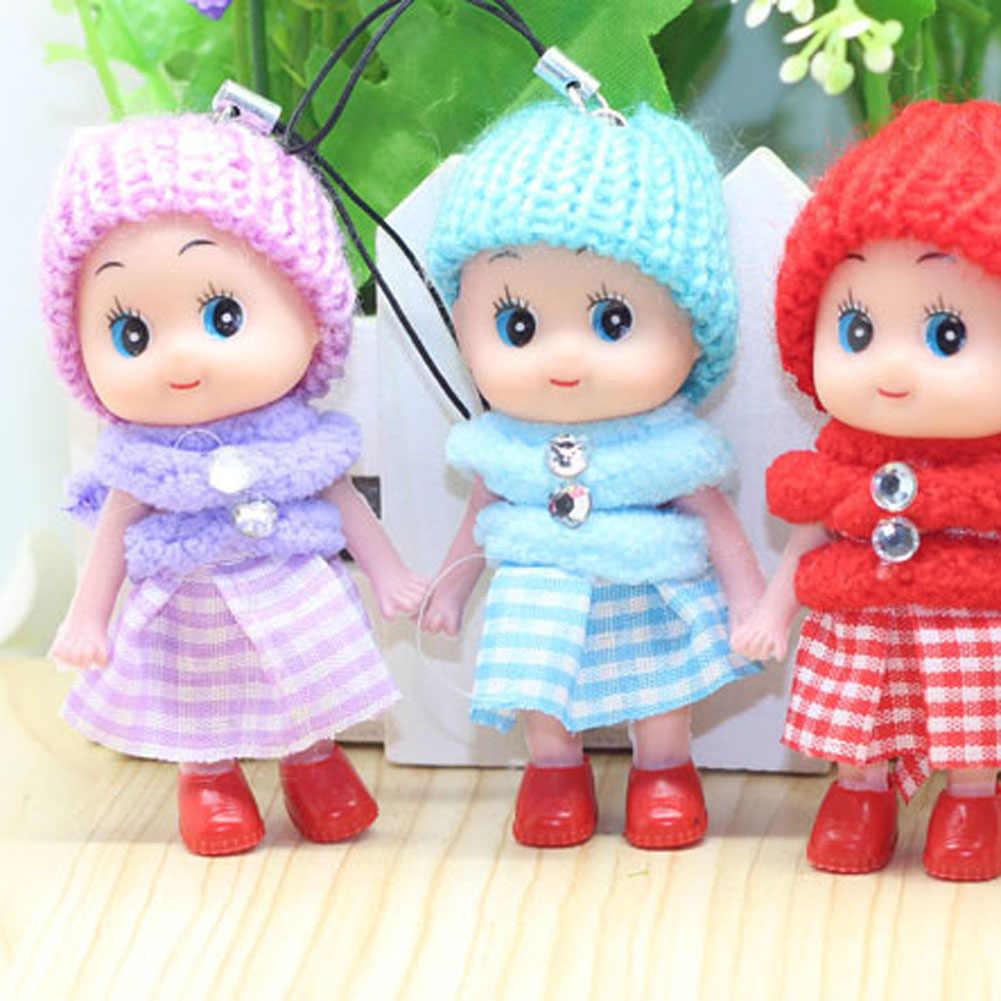 1/6pcs חמוד ילדים בפלאש בובות Keychain מיני חיות קטיפה מפתח שרשרת רך ממולא צעצועי Keyring תינוק עבור בנות נשים