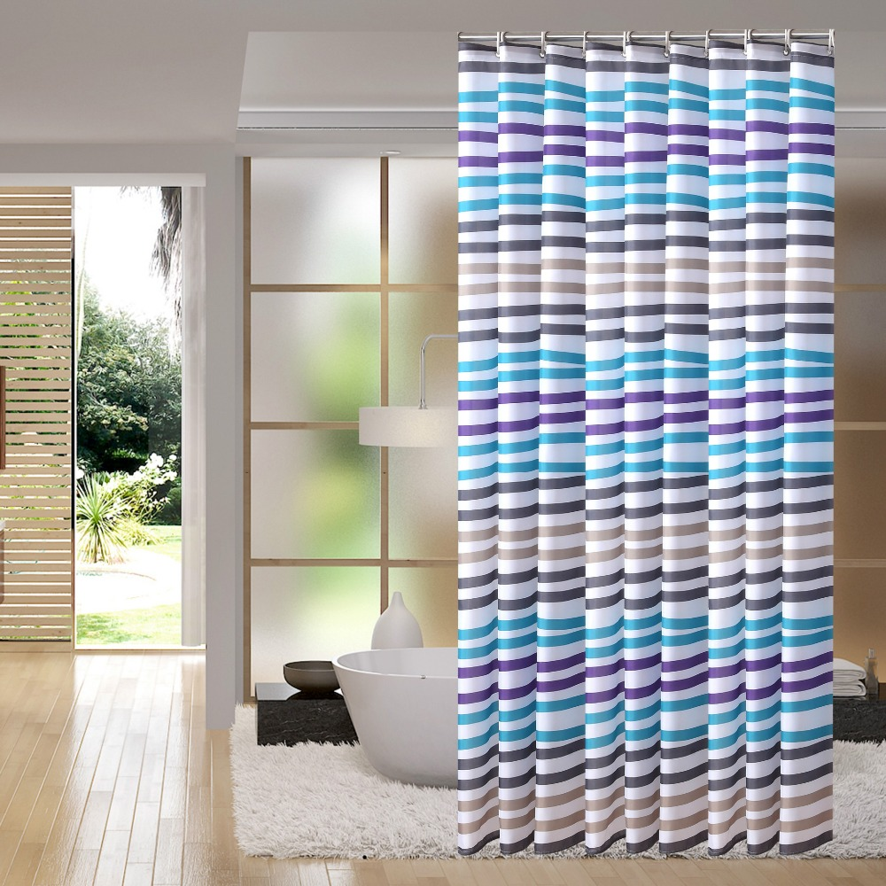 Modern Bathroom Waterproof Mildew Polyester Curtain Curtain Partition Curtain Green Personality