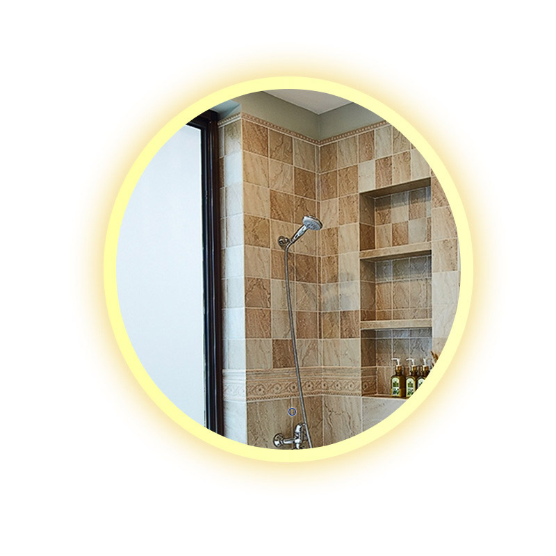Bluetooth Music Wall Mirror LED Bathroom Makeup Mirror Intelligence Display HD illuminated bathroom Mirrors moisture-proof Board 3