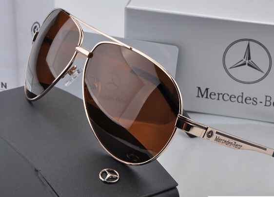 ea61822eb66 Classic fashion new brand MERCEDES BENZ metal coating polarized sunglasses  glasses men driving 737 genuine free shipping-in Sunglasses from Apparel ...