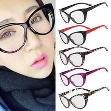 Hot Fashion Retro Sexy Women Eyeglasses Frame Cat style Clear Lens lady Eye Glasses Drop Shipping
