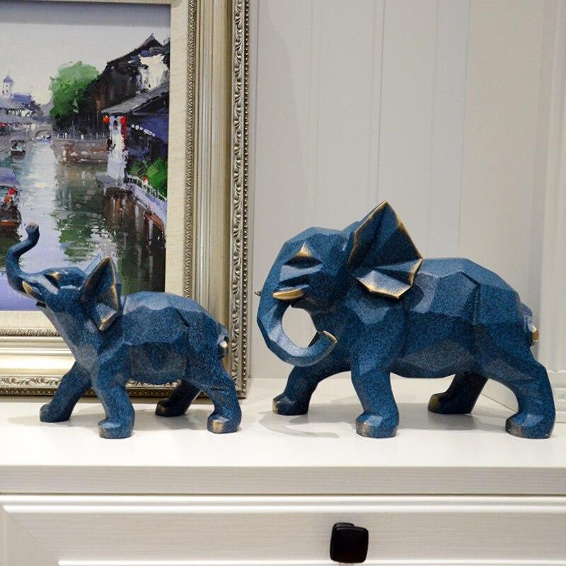Soggiorno Decorazione Della Resina Elefante Geometria Artigianato Accessori Decorativi Fortunato Elefante In Resina Della Decorazione Della Casa
