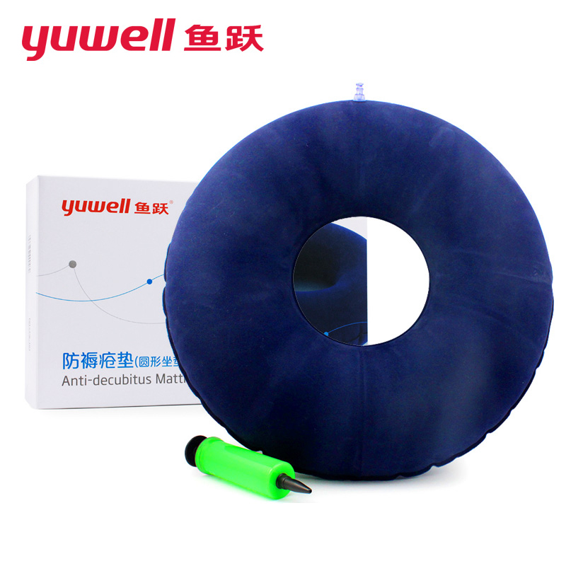 Yuwell Inflatable Seat Cushion Medical Hemorrhoid Air Pillow Breathable Orthopedic Wheelchair Donut Cushion Prevent Bedsores wellhouse wh00115 inflatable cushion waist pillow grey