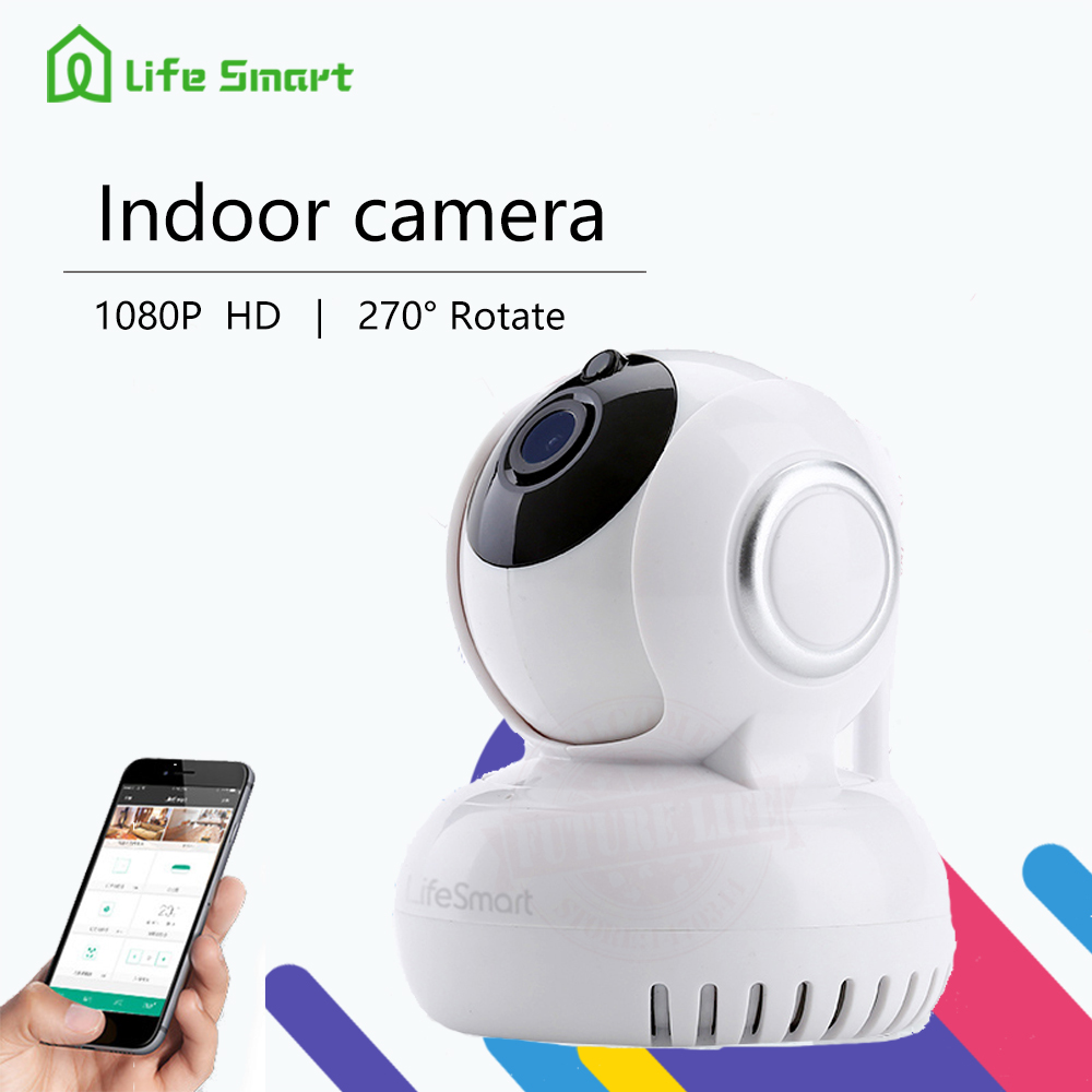 LifeSmart Smart Home Wi-Fi Wireless CCTV Camera 1080P ,270 Degree Rotation/Snap Shot/Voice Intercom Control by Smart English APP кратон smart wi 180