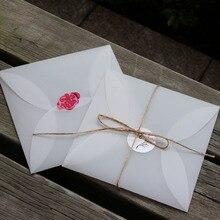 50 шт. 16*16 см квадратный прозрачный белый пергаментный бумажный пригласительный конверт DIY пригласительный креативный конверт шарф упаковка