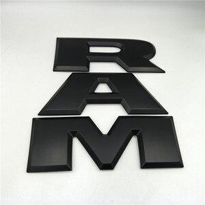 Image 2 - One set Car tailgate 3D RAM Letter Logo Emblem Rear Trunk Badge Sticker For Dodge Ram 1500 2015 2016 2017 2018