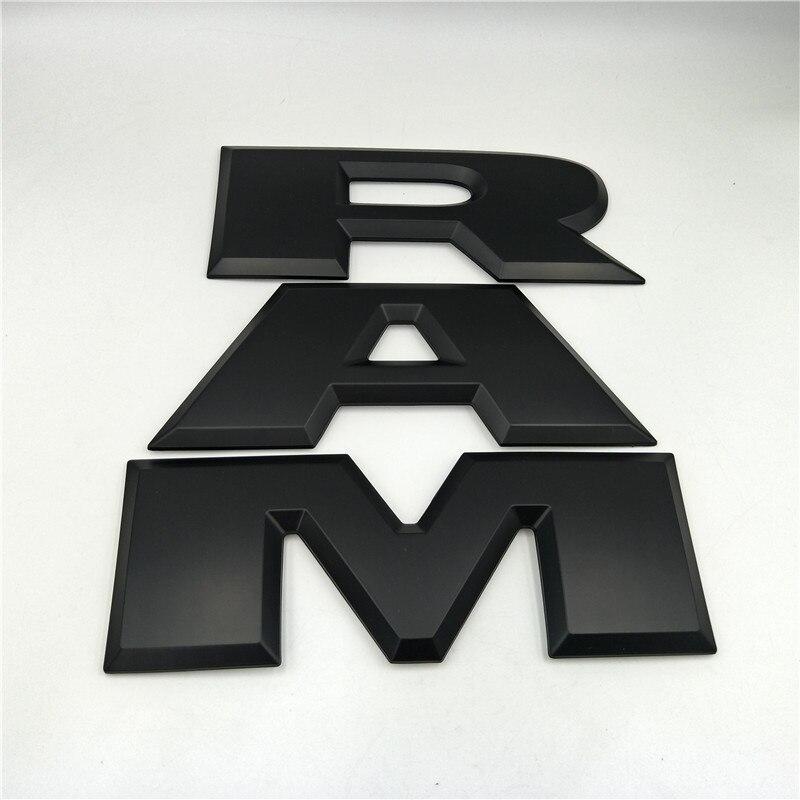 Un ensemble voiture hayon 3D RAM lettre Logo emblème arrière coffre Badge autocollant pour Dodge Ram 1500 2015 2016 2017 2018 - 2