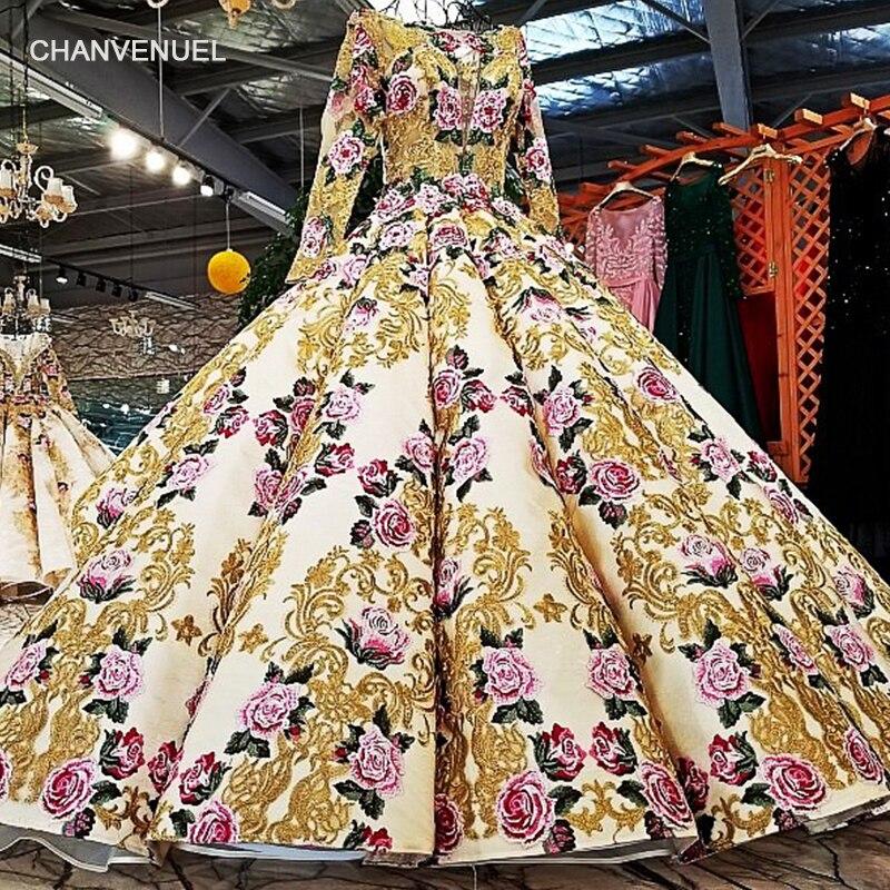 LS39810 vestidos de vestidos de pérolas pesadas vestidos de manga longa de padrão de flor vestidos de vestidos de lantejoulas sexy