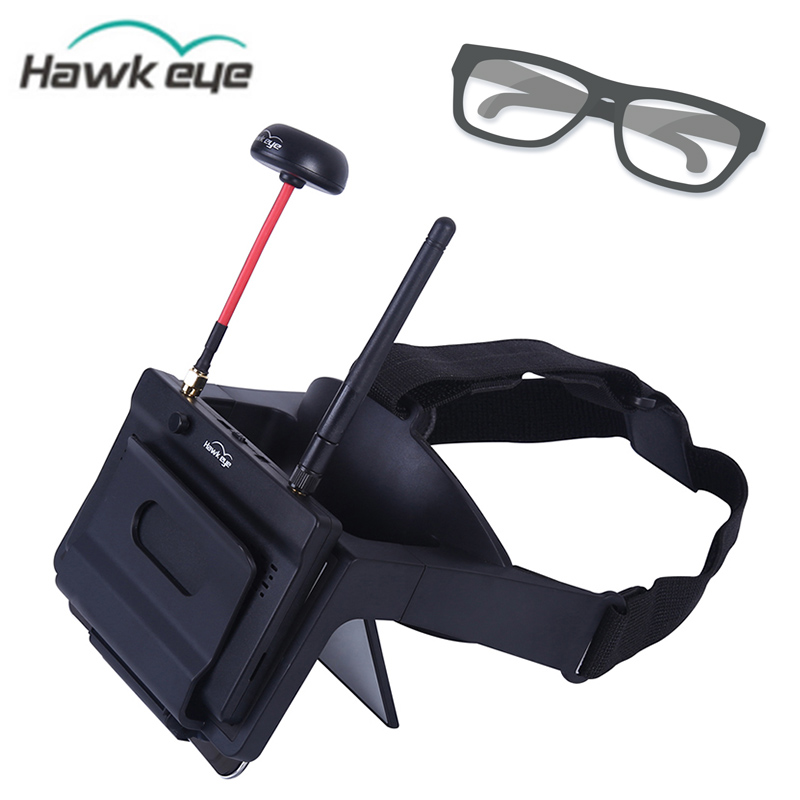 Hawkeye FPV Goggles Head Wear FPV Glasses w/ Little Pilot 5 Inch FPV Monitor Receiver for Myopia Built-in Refractor for RC DroneHawkeye FPV Goggles Head Wear FPV Glasses w/ Little Pilot 5 Inch FPV Monitor Receiver for Myopia Built-in Refractor for RC Drone