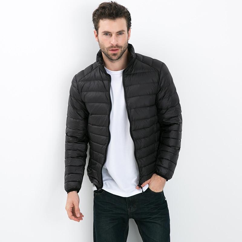 2019   Down   Parkas Fashion mens Autumn Winter Duck   Down   Jacket Ultra light Men   Coat   Waterproof collar Outerwear   coat   4XL 5XL