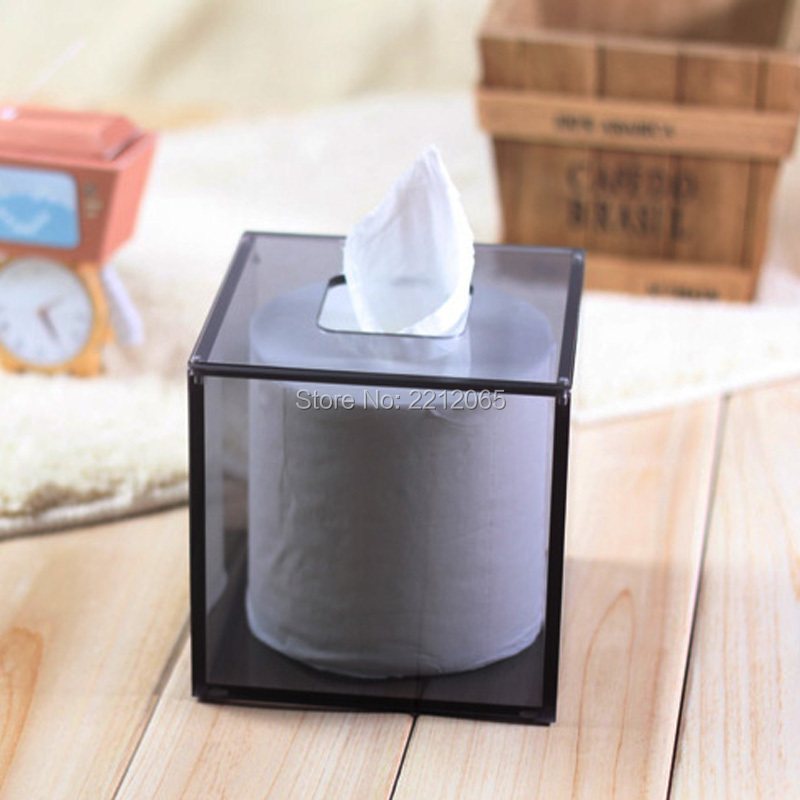(Pack / 2 eenheden) Vierkante Facial Acryl servetringen, tissue doosjes voor Home & Office Decor
