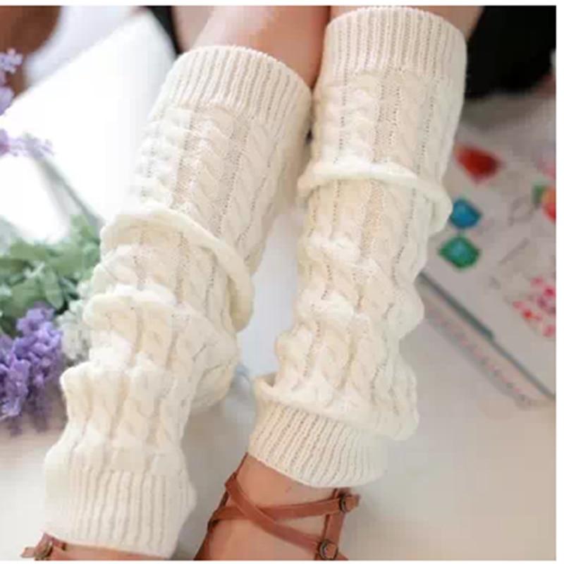 1 пара гетры для женщин дамы зима весна вязать крючком для ног гетры досуг ноги покрытие крючком длинные носки 5 цветов