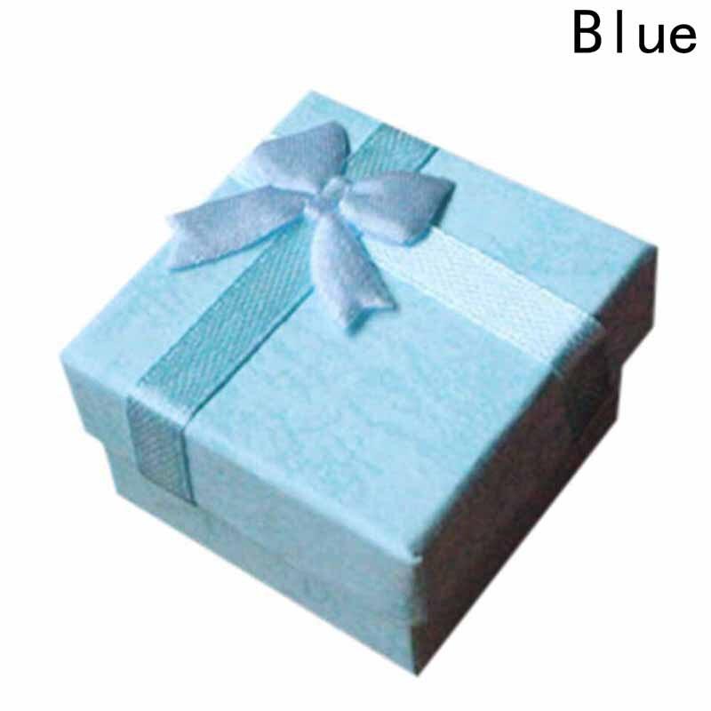 Мода красочные 1 шт. Новый 4*4 см Jewery Организатор Box Кольца хранения милый поле Малый Подарочная коробка для кольца Серьги 4 цвета