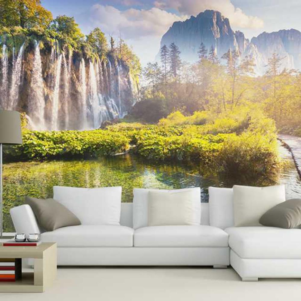 Water flowing beneath a little bridge livingroom background 3D ...