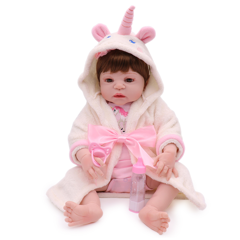 KAYDORA 22 inch 55cm Full Silicone Reborn Baby Dolls Baby Alive Lifelike Bebe Reborn Real Realistic Girl Doll Toys Cute 55cm full body silicone reborn dolls cute 22inch all vinyl baby girl doll toys npkdoll realistic lifelike bebe toys for children