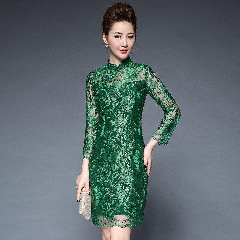 2018 nouveau printemps designer femmes robes maille fleur broderie mode marque rétro grande taille 4XL parti slim moulante robe s-4xl