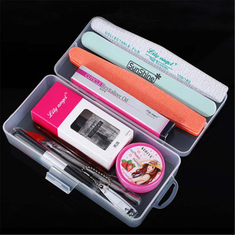 lilyangel Nail Foot Manicure Set Nail Art Tools For Predicure Nail Treatment Kit Including Cuticle Oil Pen Nail Sanding Files in Sets Kits from Beauty Health