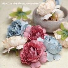 5cm Hibiscus pamuk yapay çiçekler DIY düğün dekorasyon çelenk öpüşme topu çiçek duvar beyaz kırmızı pembe çiçek başları