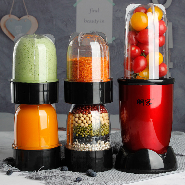 Small Plastic Blender with Stainless Steel Chopper