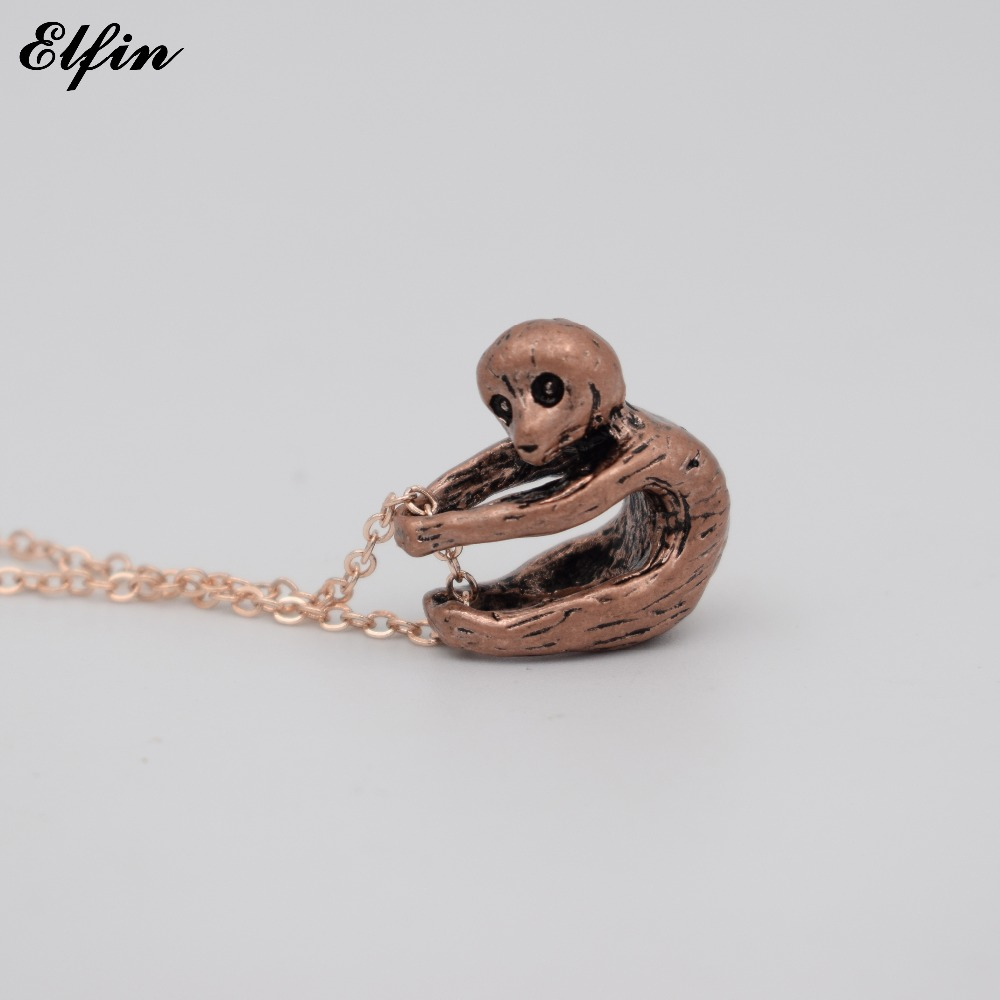 lampwork jewelry charm necklace baby silver pendant glass pin miniature figurine chain sculpture sloth bead with