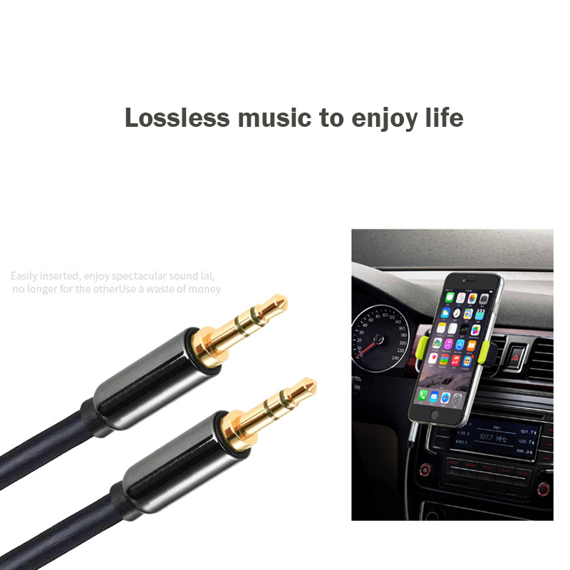 3.5mm Male to Male Audio Cable Jack 3 5 Aux Cable For iPhone Samsung Car MP3 / 4 Headphone Mobile Phone Speaker Aux Cord Wire