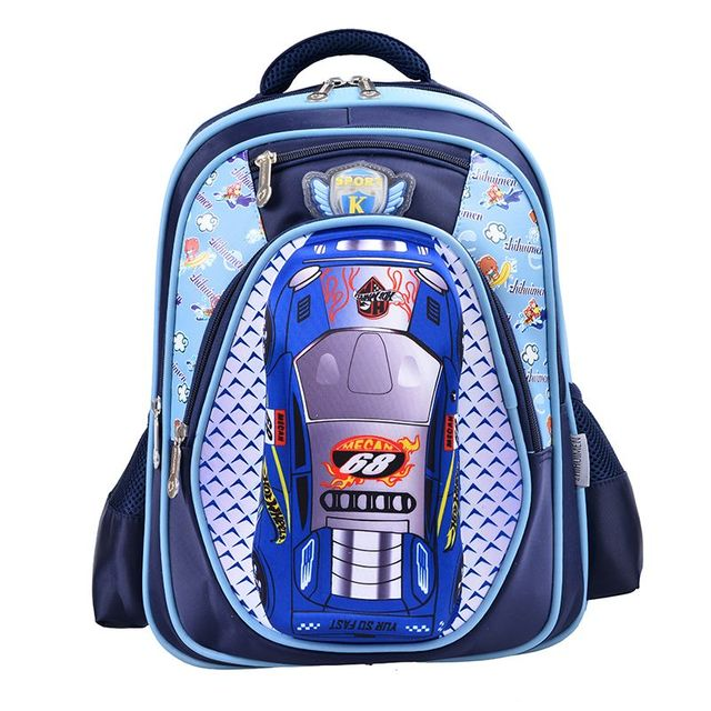 d5e09a88990a 3D Cartoon Big Capacity Russia Style Orthopedic School bags For Boys Car  Ultralight Waterproof Backpack Child Kids School bag S3
