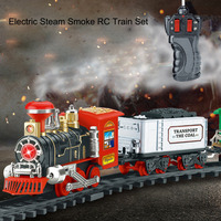 New Electric Steam Smoke RC Track Train Set Simulation Model Rechargeable Classic Children Toy Set Gift