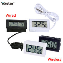 Digital Embedded Thermometer LCD Instant Read Refrigerator Aquarium Monitoring Display with Waterproof Detector(China)