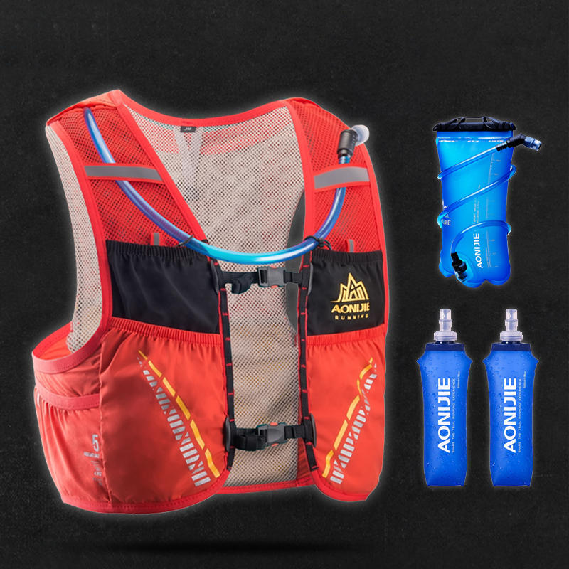 AONIJIE Hydration Pack Backpack Rucksack Bag Vest Harness Water Bladder Hiking Camping Running Marathon Race Climbing 5L