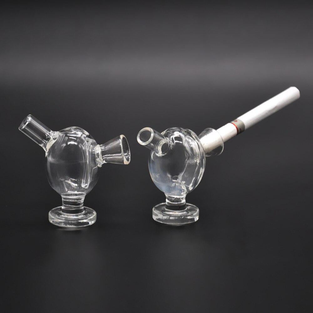 1 X New Design Glass Smart MINI Bubblers Cigarette Filter Tis