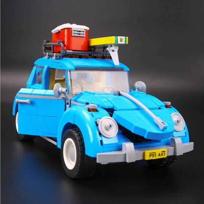 New LEPIN 21003 Series City Car Beetle model Educational Building Blocks Compatible 10252 Blue Technic children toy gift new lepin 16008 cinderella princess castle city model building block kid educational toys for children gift compatible 71040