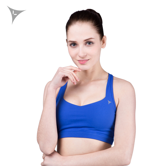 1989ec1183 Linebreak Women Sports Bra Exercise Training Sexy Vest Top Push Up Padded  Fitness Yoga Bras Polyester Qiuck Dry Sportswear