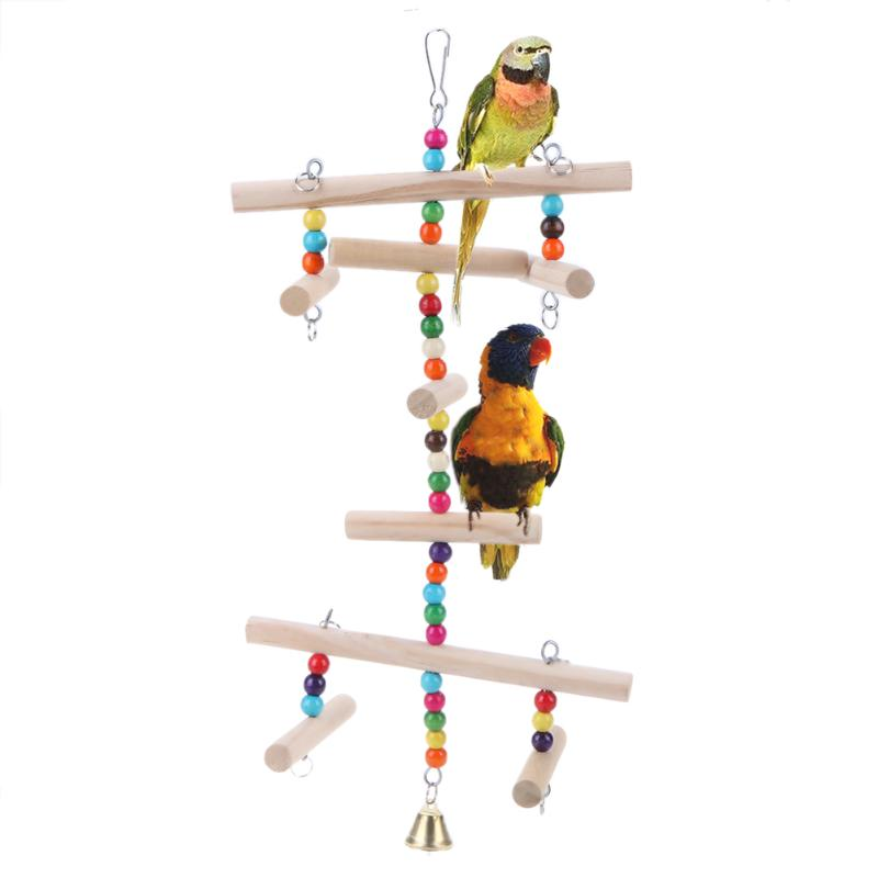 Madera Jaula MascotasLoroHamaca ColganteColumpioPeriquitos Accesorios De PájarosJuguetes Pájaros Y Para bEeW9YDH2I