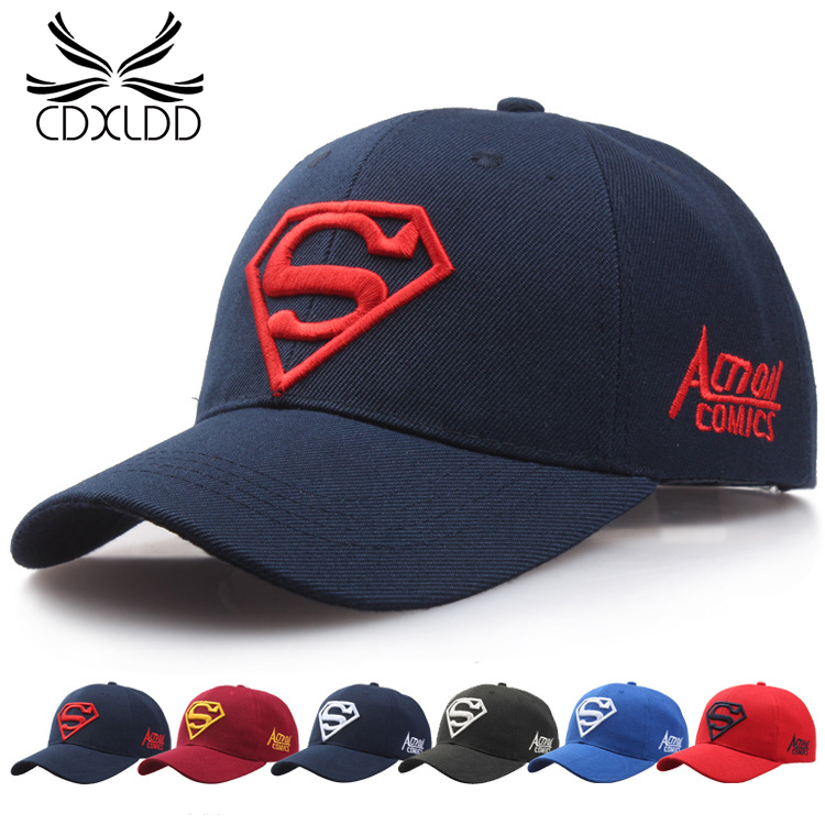 Korean New Shading Hat Men Women Couple Superman   Baseball   Hat Fashion Golf Hat Adjustable Unisex dad hat   caps   trucker   cap