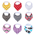 9Pcs/Lot 10 Styles Baby Burp Bandana Bibs Cotton Soft Kids Toddler Triangle Scarf Bib Cool Accessories Infant Saliva Towel