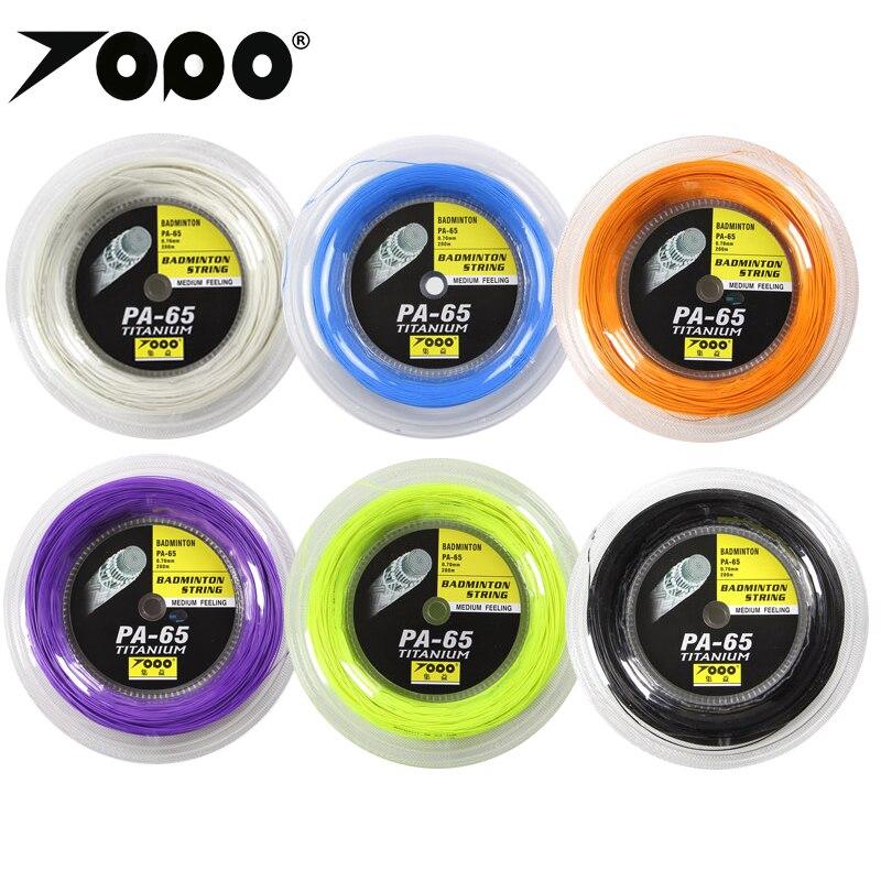 TOPO PA65 titanium Badminton string reel 200mTOPO PA65 titanium Badminton string reel 200m