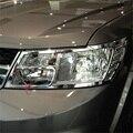 Аксессуары  2 шт.  декоративная рамка для фар с высококачественным АБС-хромом  подходит для Dodge Journey 2013  автомобильные фары  авто Стайлинг