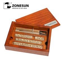 Stamp Iron-Machine Letters Craving-Tool Wood-Box Alphabet Custom Branding ZONESUN 10cm