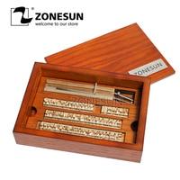 ZONESUN 6mm T slot 10cm Fixture+52Alphabet Letters+10numbers+20symbol Custom Leather Stamp Craving Tool Branding Iron Machine