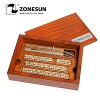 ZONESUN T slot 10cm Fixture+52Alphabet Letters+10numbers+20symbol Custom Leather Stamp Craving Tool Branding Iron Machine Mould