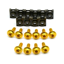 For KTM 1190 1190R RC8 Motorcycle Accessories 6mm/8mm/10mm Fairing body bolts stand screws Gold color  KTM 640 LC4 Supermot r3 5pcs 6mm cnc motorcycle fairing body work bolts screws for ktm 950 adventures 03 04 05 06 400 xc w rc390 rc8