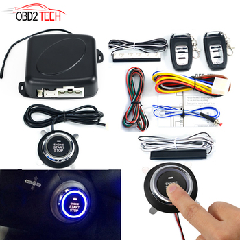 Car SUV PKE keyless Entry Engine Start Alarm System Push Button Remote Starter Universal Smart Car Start Button System 9pcs car suv keyless entry engine start alarm system push button remote starter stop auto