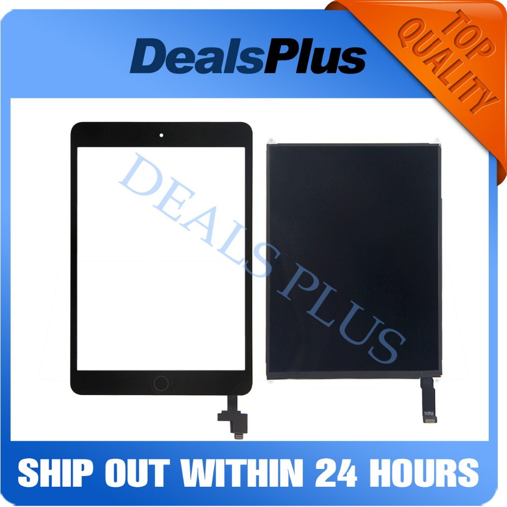 Replacement New LCD Display +Touch Screen with Home Button + IC Connector For iPad Mini 2 A1489 A1490 A1491 original 7 85 inch lcd screen for ipad mini 2 2nd with retina a1489 a1490 replacement display free shipping